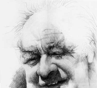 Ernst Unbehauen (Zeichnung: R. Hellenschmidt)
