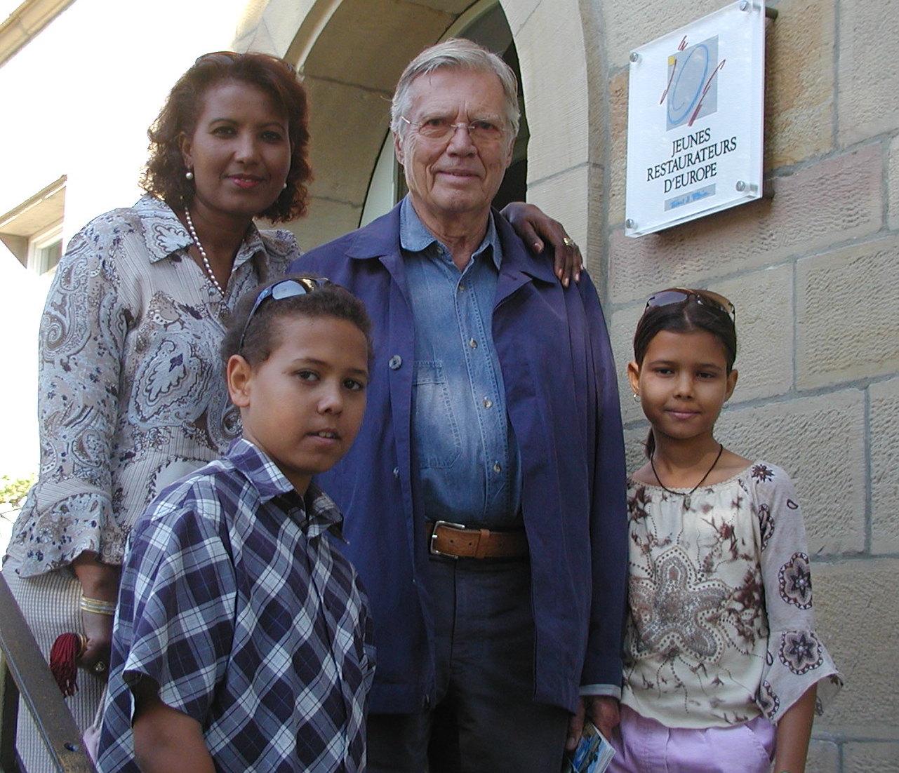 Almas und Karlheinz Böhm mit Kindern Nikolas und Aida @ rolf diba